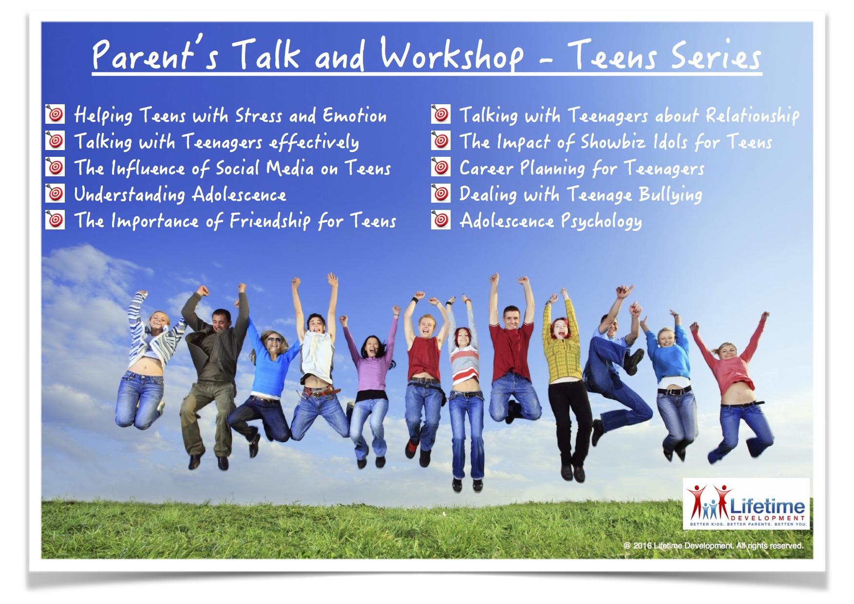 201607 Parent Talk and Workshop Teens Series English