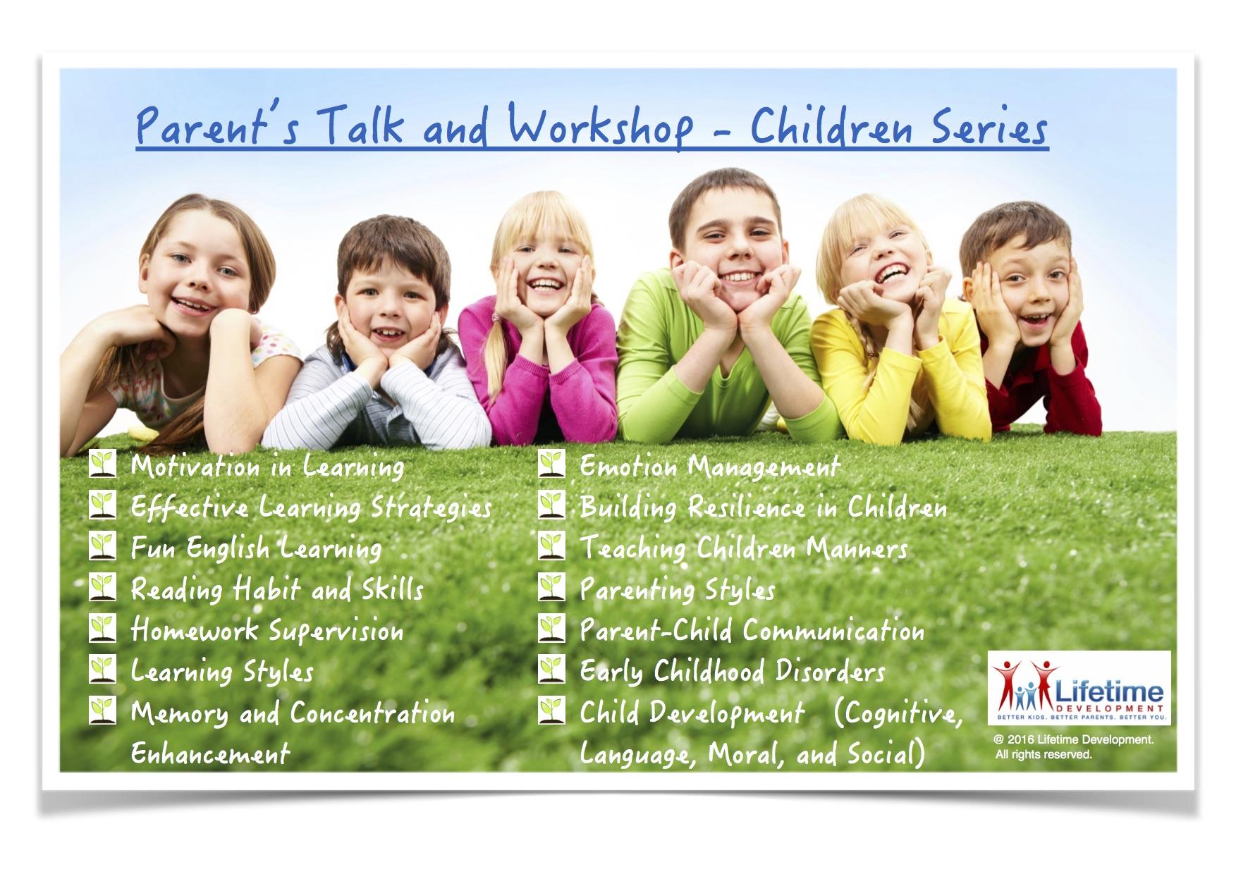 201607 Parenta Talk and Workshop Children Series English